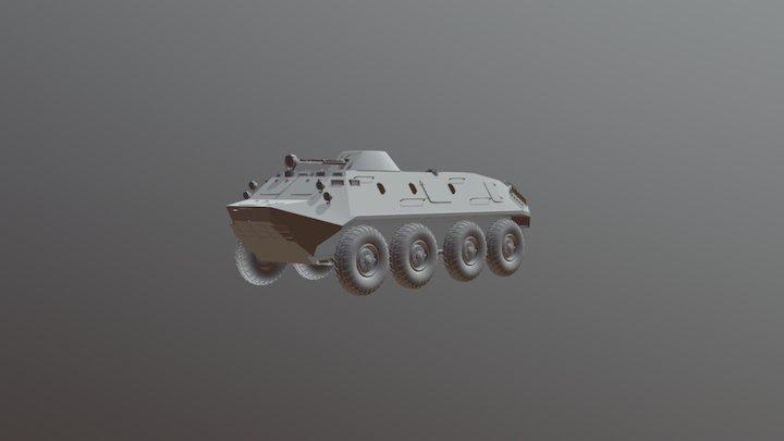 Btr60 - wip hardsurface high poly 3D Model
