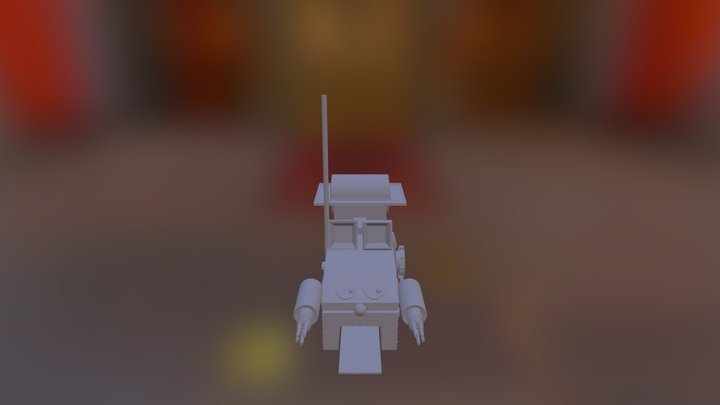 Bertha_blockout 3D Model