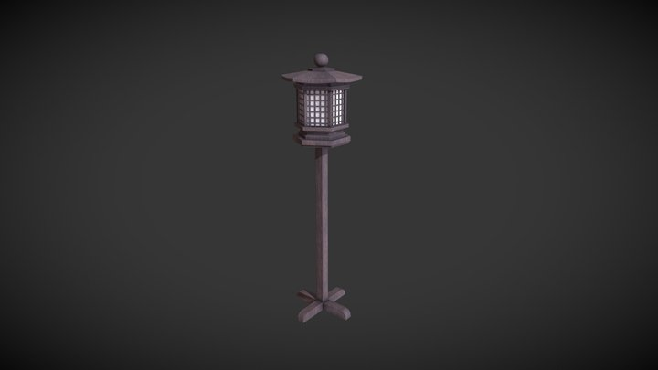 Japanese Lantern 3D Model