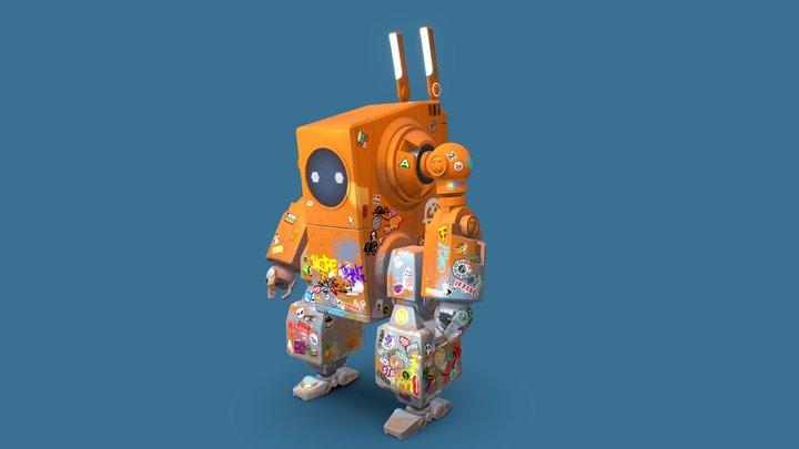 Robo Rabbit V3 3D Model