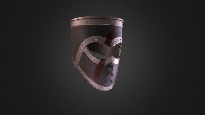 Bloody Helmet 3D Model