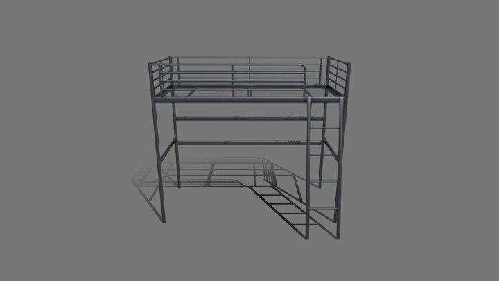 IKEA Svarta Loft Bed Frame 3D Model