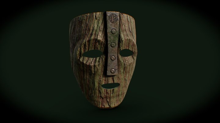 """Loki mask from """"The Mask"""" 1994 movie 3D Model"""