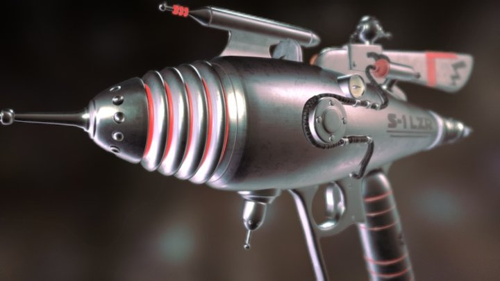 Ray Gun, High Poly-Model 3D Model