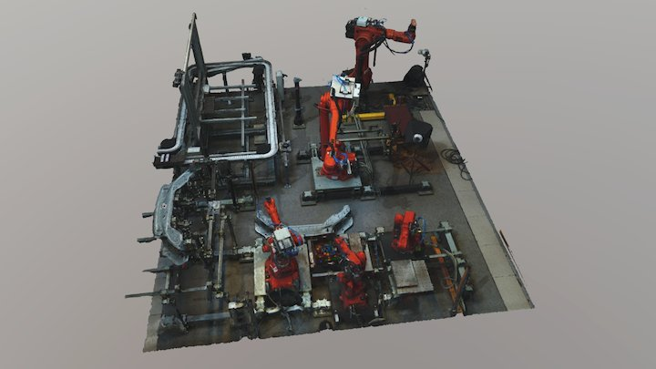 Robotic Cell at Chalmers (1.5M txt) 3D Model