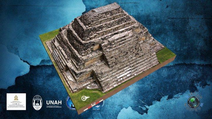 Pirámide Maya de El Puente - Mayan Pyramid 3D Model