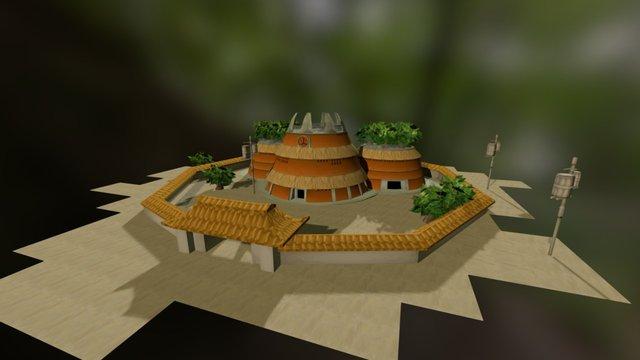Hokage Office 3D Model