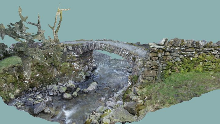 High Sweden Bridge 3D Model