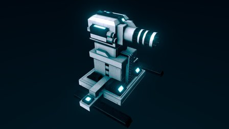 Entrocore : Sentry Gun 3D Model