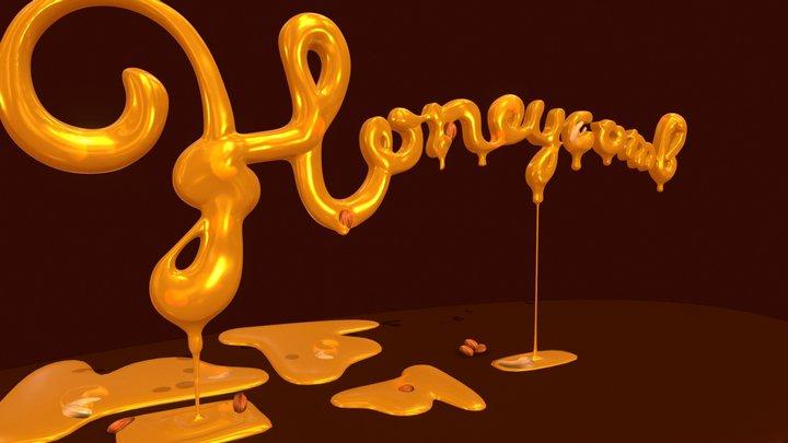 Honeycomb 3D-typography 3D Model