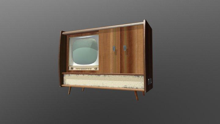 Vintage Home Entertainment System 3D Model