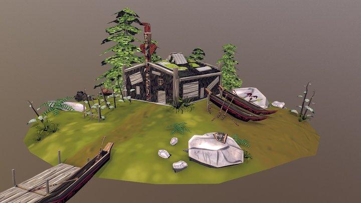 The Haida tribe 3D Model