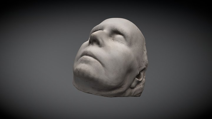 Queen Marie of Romania - Death mask 3D Model