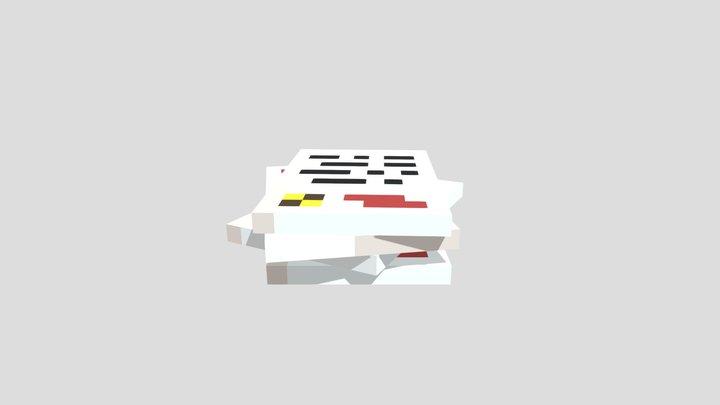 Newspaper Pile 3D Model