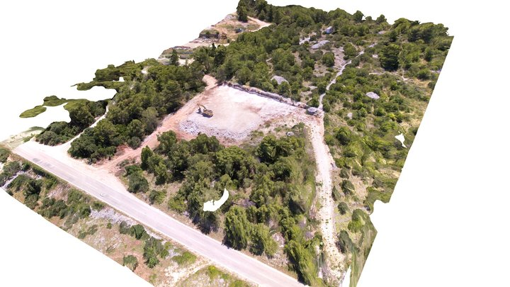 Zemljište Brač - Sutivan 3D Model