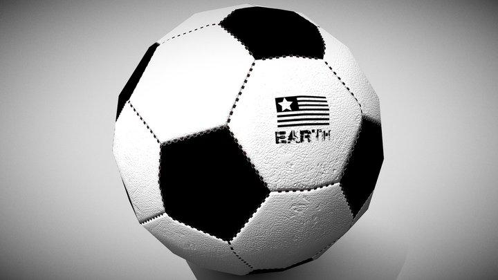 Soccer (Low Poly) 3D Model