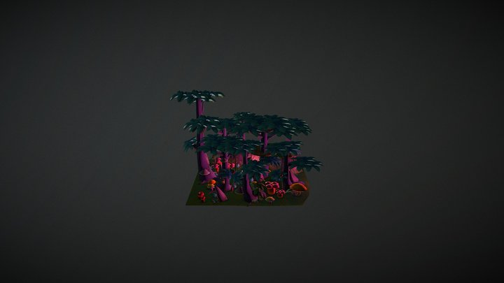 Keep it low poly | Mystery Forest 3D Model
