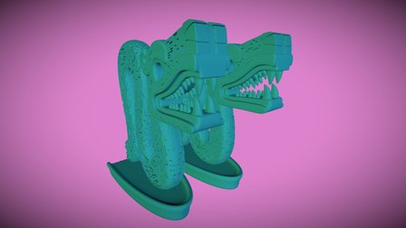 Aztec Double-Headed Serpent for printing 3D Model