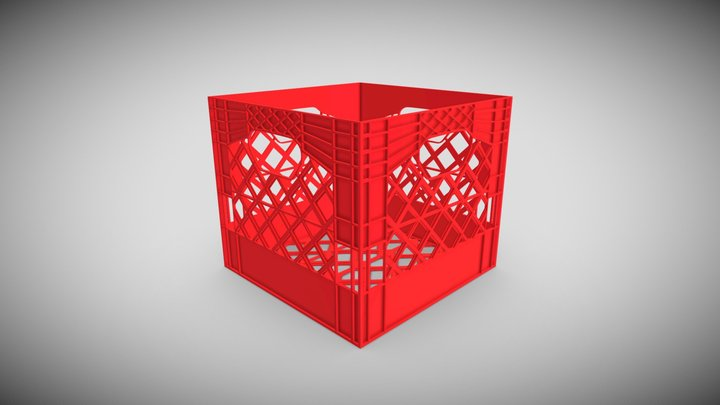 PlasticCrate 3D Model