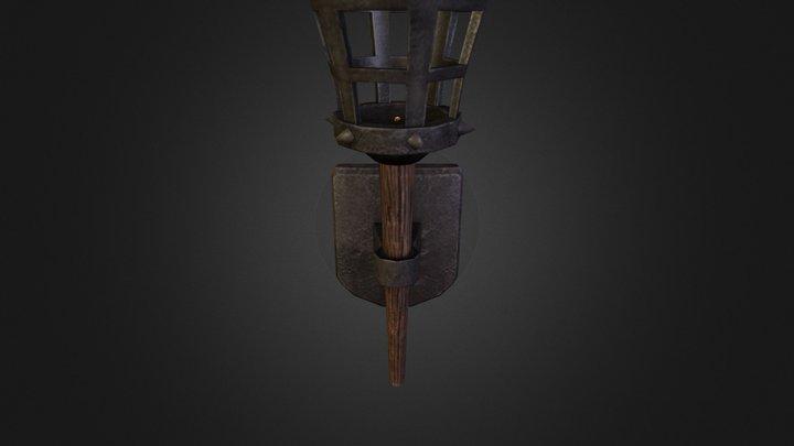 Wall Torch 3D Model