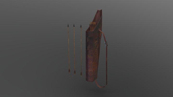 Quiver and Arrows 3D Model