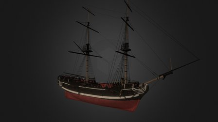 Pirate Brig - Tides of War 3D Model