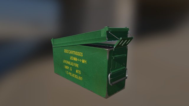 Ammo Can PBR 3D Model