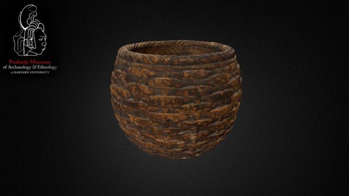 Ceramic vessel in shape of basket 3D Model