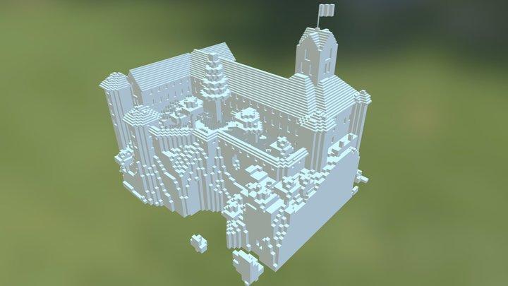 Meersburg am Bodensee in Minecraft 3D Model