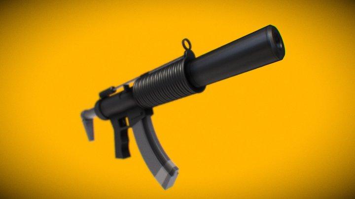 Heckler & Koch MP5SD6 Fortnite 3D Model