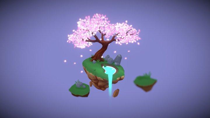 Blossoming Island 3D Model