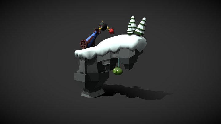 Angry Birds Diorama 3D Model