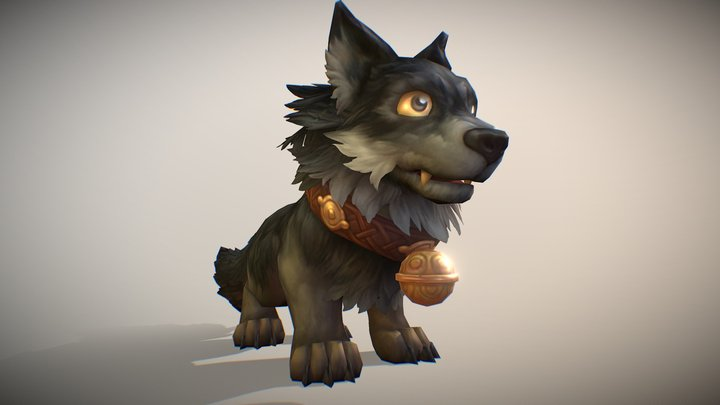 Wolf Pet 3D Model
