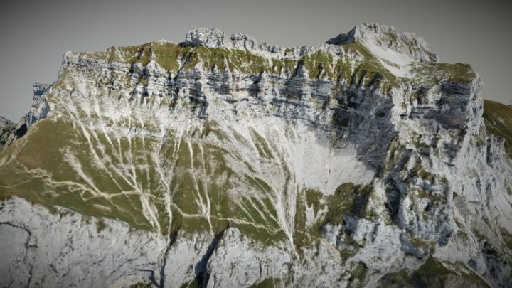Tournette mountain 3d Mapping Annecy 3D Model