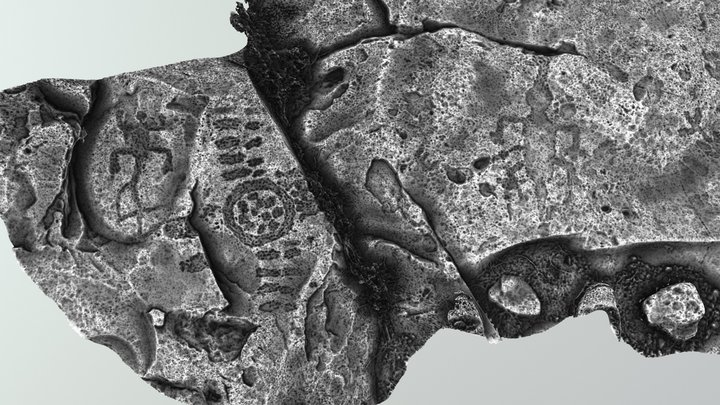 Petroglyph Enhancement 3D Model