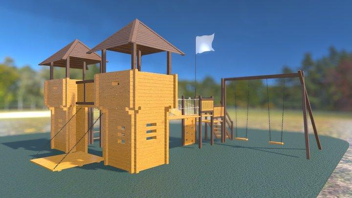 """2101 Детская площадка """"Дневной дозор"""" 3D Model"""