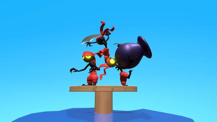 Tinkerbats 3D Model