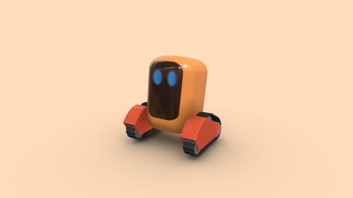Cute Little Robot 3D Model