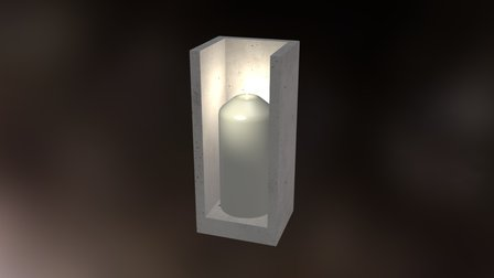 Cover L Candlestick with candle 3D Model