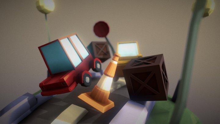 Masterclass Game Art Lowpoly 3D Model
