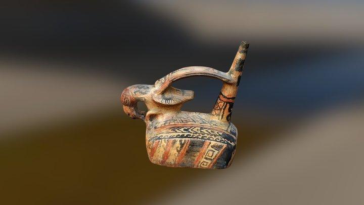 Whistling Vase Moche culture VI century AD. 3D Model