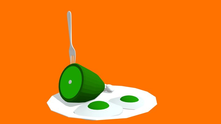 Green Eggs And Ham Model 3D Model
