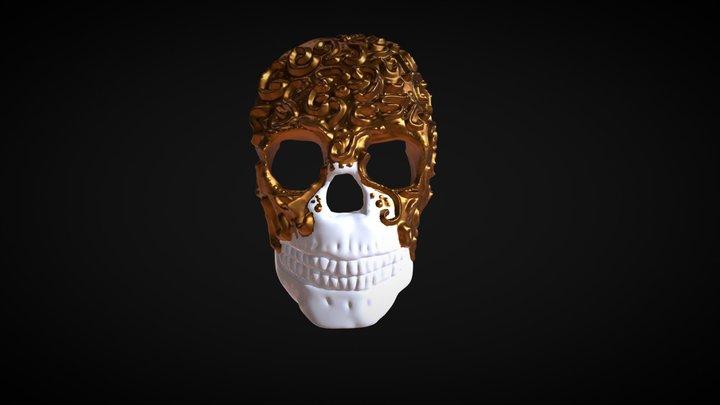 "Sculpt January 2018 Day2:  ,,mask"" 3D Model"