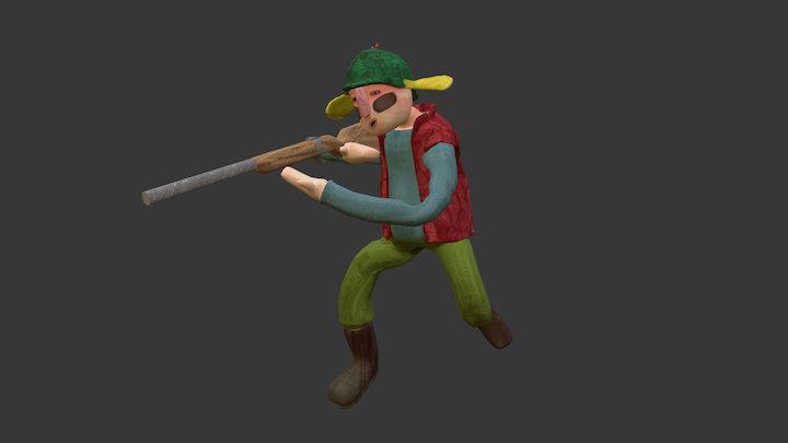 [ Luncheon the grass ] Hunter 3D Model