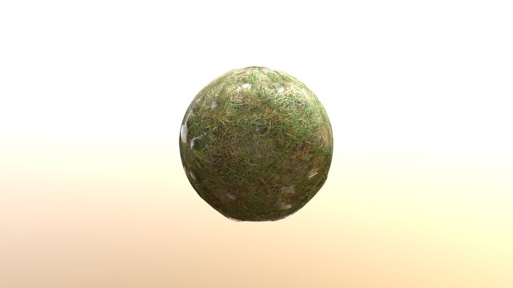 Grass with Snow Material Photogrammetry HD 3D Model