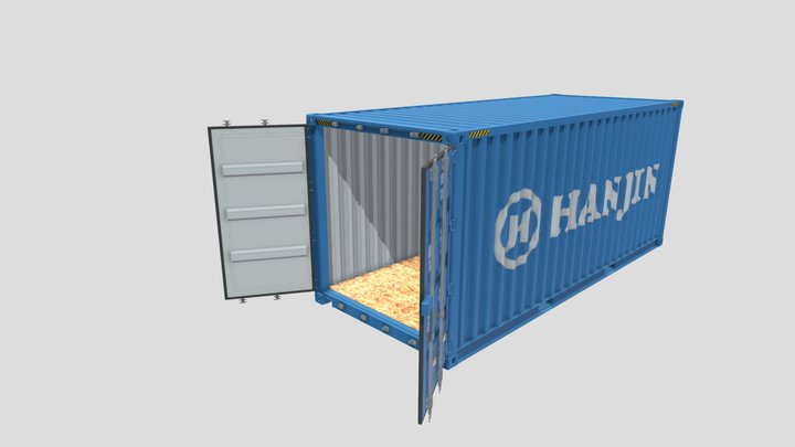 20ft Shipping Container Hanjin 3D Model