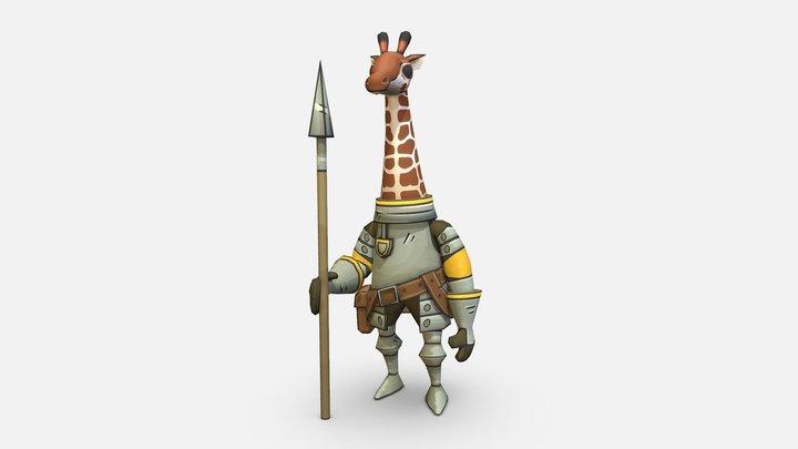 Giraffe knight 3D Model