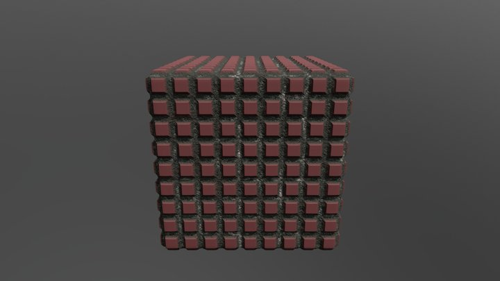 Seamless red texture 3D Model