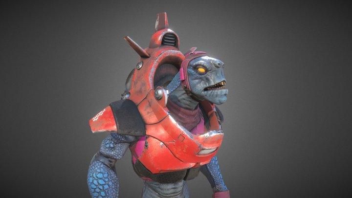Space Lizard 3D Model