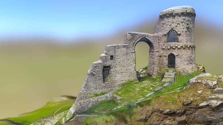 Mow Cop Castle, Stoke-on-Trent 3D Model